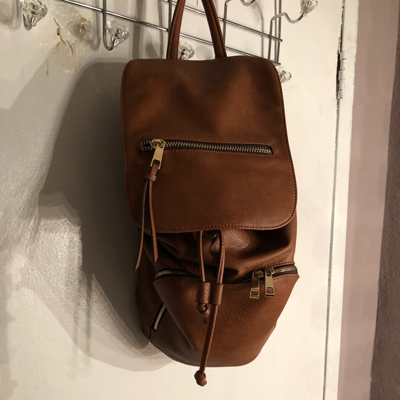 313b0f42c51 Aldo Handbags - Brown faux leather backpack
